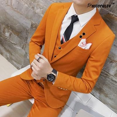 Modern legújabb kabát nadrág tervez Classic klasszikus színek - Férfi ruházat - Fénykép 3