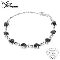 JewelryPalace 1.3ct Genuine Spinel Love Heart Ankle Bracelets For Women 925 Sterling Silver Fine Jewelry Romantic Christmas Gift