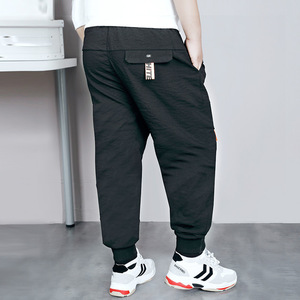 Image 2 - Big Boys Pants Autumn Teenage School Boys Trousers Casual Fat Kids Solid Long Pant Breathable Plus Size Clothes for 8 16 Years