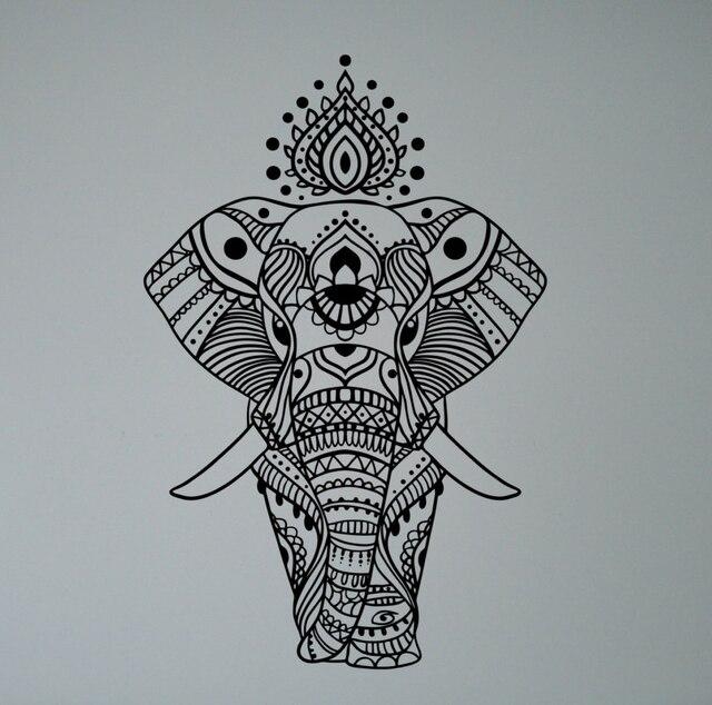 Aliexpresscom  Buy Indian Elephant Mandala Wall Sticker Asian - Vinyl wall decals asian