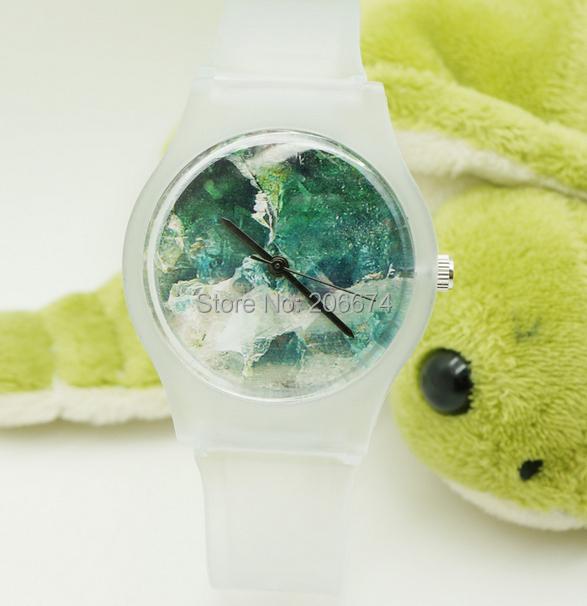Hansyins Glacier Enkel Design Mode Kvinnor Klär Vattentålig Analog Wrist Quartz Watch Unisex Klockor Kvinnor Casual Klocka