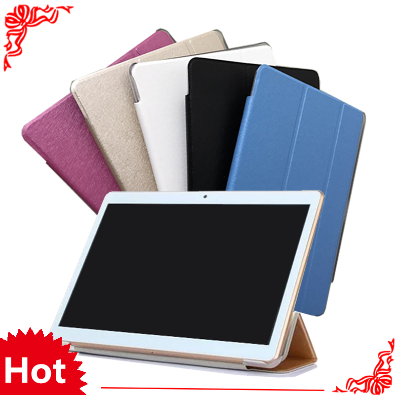 PU Leather Cover for BDF BMXC K107 S107 K108 T900 MTK8752 MTK6592 <font><b>MTK6580</b></font> <font><b>Octa</b></font> <font><b>Core</b></font> 10.1 inch Tablet Case + Screen Film gifts image
