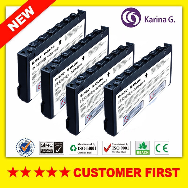 4pcs Replacement For T557 E 557 Ink Cartridge Suit For Epson Picture