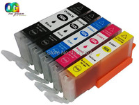 5 Pcs Chipped CANON 550 551 Ink Cartridge Compatible For PIXMA IP7250 MG5450 MG5550 MG5650 MG6350