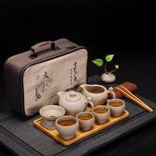 Chinese Kung Fu Teaset Porcelain Teaware Set Traditions Gai Wan Tea Cup Gaiwan Sets Pot Stoneware Ceremony