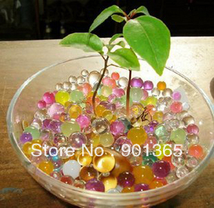 Free shipping wholesale 1kg 11 assorted colors Crystal Soil Water Beads flower mud multifunction magic water plant jelly ball