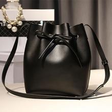GZL 2 bags/set Mujeres Cadena Cordón Bucket bag lady PU Cuero bolsa de Hombro Abierto de Lujo Bolsas de Mensajero Bolso HB0072
