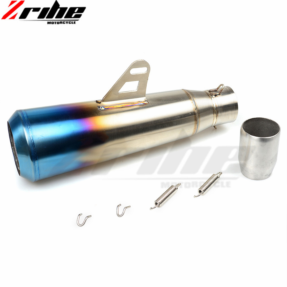 36-51MM Universal Modified Escape Moto Exhaust Motorcycle Scooter Dirt Bike Muffler Pipe YZF600 R6 YZF1000 R1 CBR1000 mt07 mt09