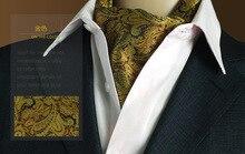 Purple Black Dots Woven Tie Fashion Men Long Silk Scarves/Cravat Ascot Ties Gentlemen Wholesale