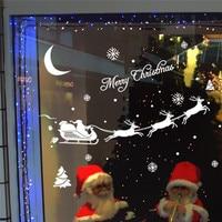 زينة عيد الميلاد مرح الغزلان الحائط صائق نافذة ملصقات الزجاج القابل و مزلقة ركوب إمدادات جدار ملصقا