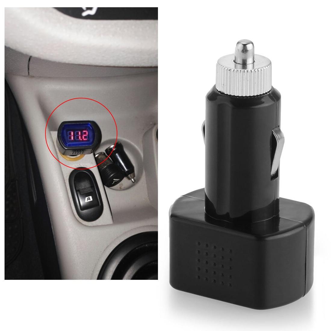 12-24V LED Display Cigarette Lighter Electric Voltage Meter For Car Battery TR High Quality