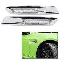 1 Pair Auto Car LED Side Marker Turn Signal Light Lamps for BMW E81 E92 E93 E90 E60 E61 Silver Color
