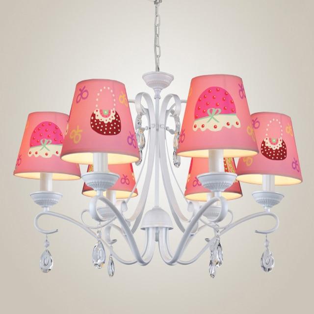 110V 220V LED E14 Children Chandeliers for The Bedroom Crystal Cloth ...