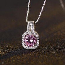 JEXXI Fashion Pendants Necklaces For Women Wedding Jewelry Accessory Luxury AAA Austrian Crystal Necklace Wholesale Top Quality