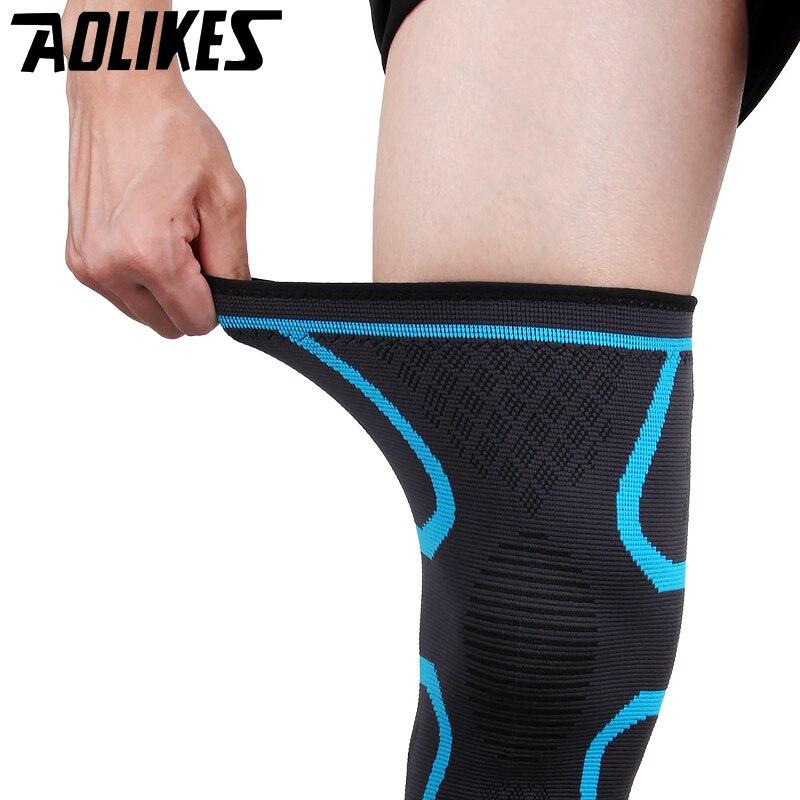 1 paar Fitness Elastische Nylon Compression Basketball KneePad Laufen Radfahren Knie Unterstützung Sport Hosenträger Hülse Volleyball Schützen