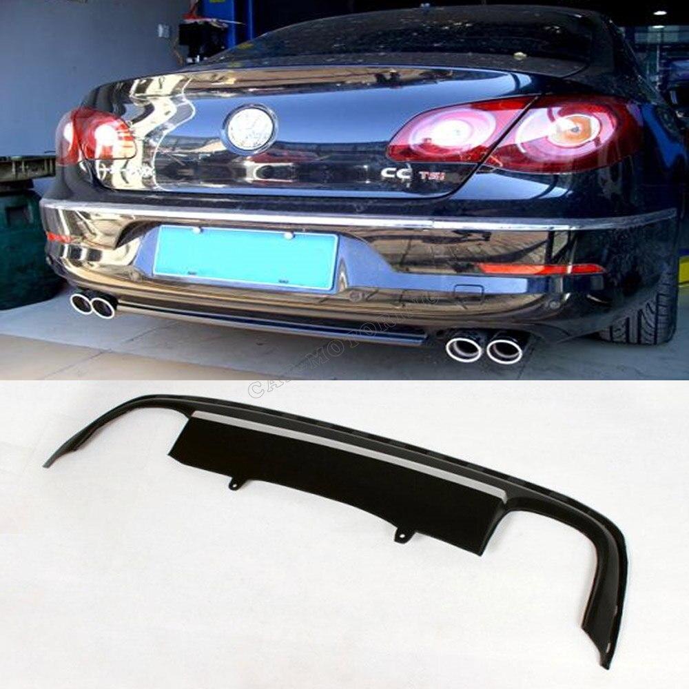 Car styling pu auto rear diffuser lip spoiler  for  vw passat cc 2008-2012