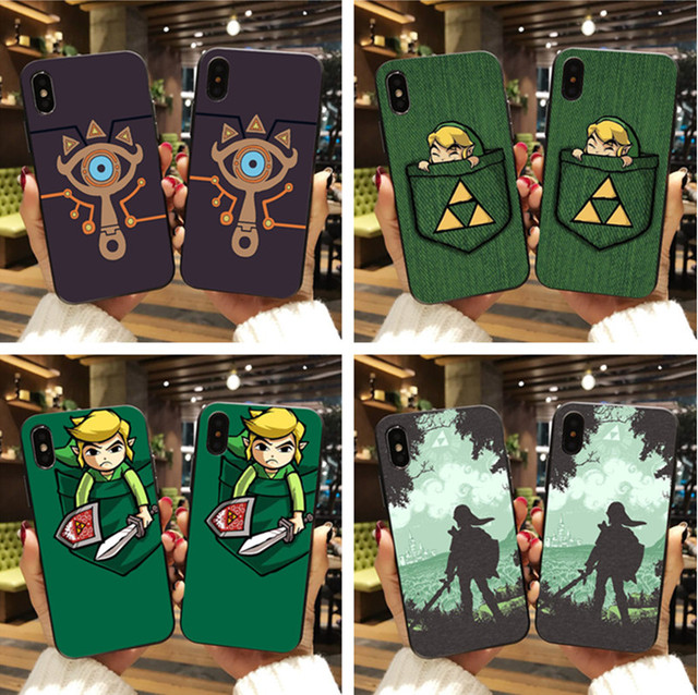 sports shoes 5665f b05e3 US $1.92 29% OFF|The Legend of Zelda Sheikah Slate TPU black Silicone cover  case For iPhone 8 8plus 7 7 plus 6 6S Plus X XR XS MAX 5S Phone Cases-in ...