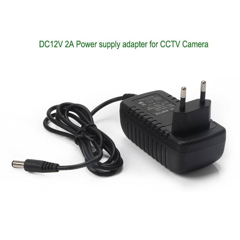 New AC220 to DC12V 2A Video surveillance Camera Power Supply Adapter for Security CCTV Camera EU/UK/US Optional original new 7 inch tft lcd screen 5mm 800 rgb 480 for innolux at070tn90 v 1 tft lcd display screen panel free shipping