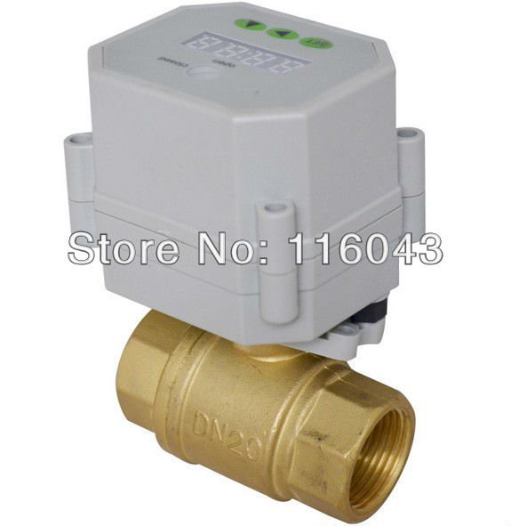 AC/DC9-24V brass DN20 time control electric valve BSP/NPT 3/4'' for garden irrigation Drain water air pump 3 4 brass time control electric valve ac110v 230v bsp npt can be selected for garden water irrigation drain water air pump