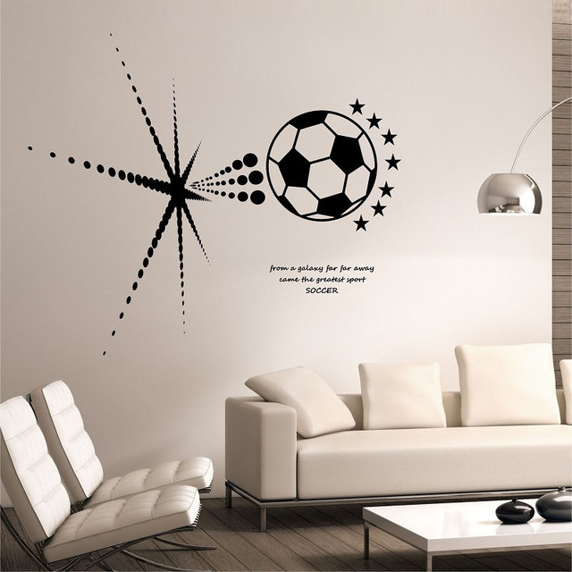 Football Wall Decals Creative Vinyl Adhesive Wall Stickers Self Adhesive  Wallpaper Living Room Decoration Home Decor