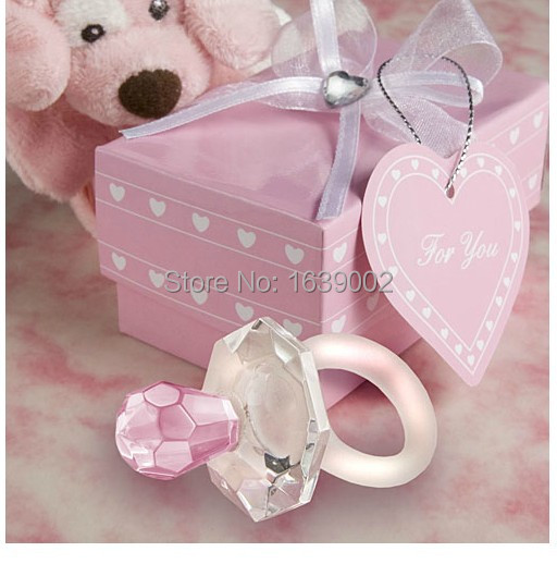 Luxurious Choice Crystal Pacifier Favors Two Color Crystal Baby Shower  Favors Wholesale Free Shipping 10PCS