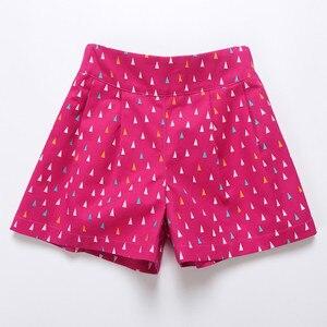 Image 4 - 4 a 14 anos crianças e adolescentes meninas verão impressão geométrica doce doce cor algodão casual shorts menina moda curto bottoms