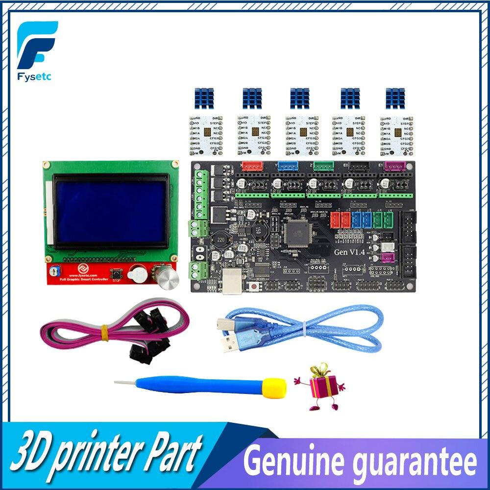 Gen V1.4 3D imprimante kit avec Gen V1.4 conseil + TMC2100/TMC2130/TMC2208/DRV8825/A4988 + 12864 Graphique LCD