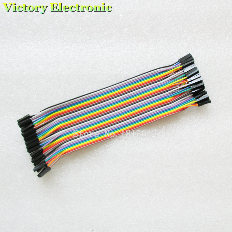 Dupont Line 40pcs/1Row 20cm 1P-1P Female To Female Jumper Wire Dupont Cable For Breadboard