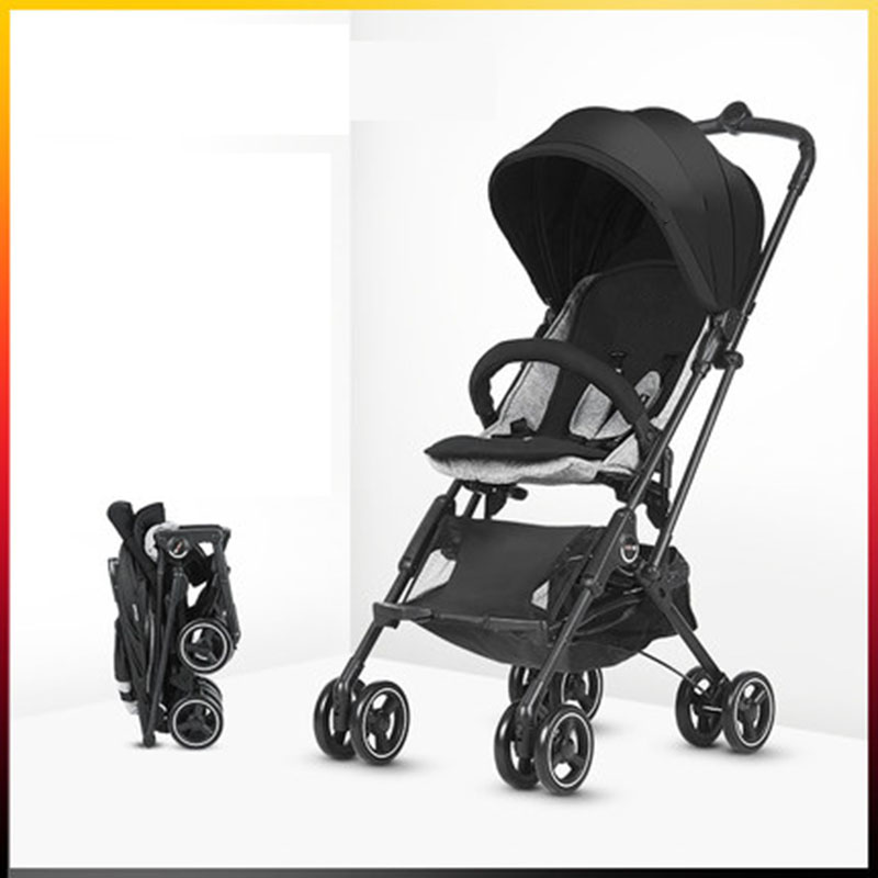 Baby Four-Wheeled Trolley Lightweight One-click Folding Suspension Mini Capsule Car Take A Trip Boarding With You Baby Stroller
