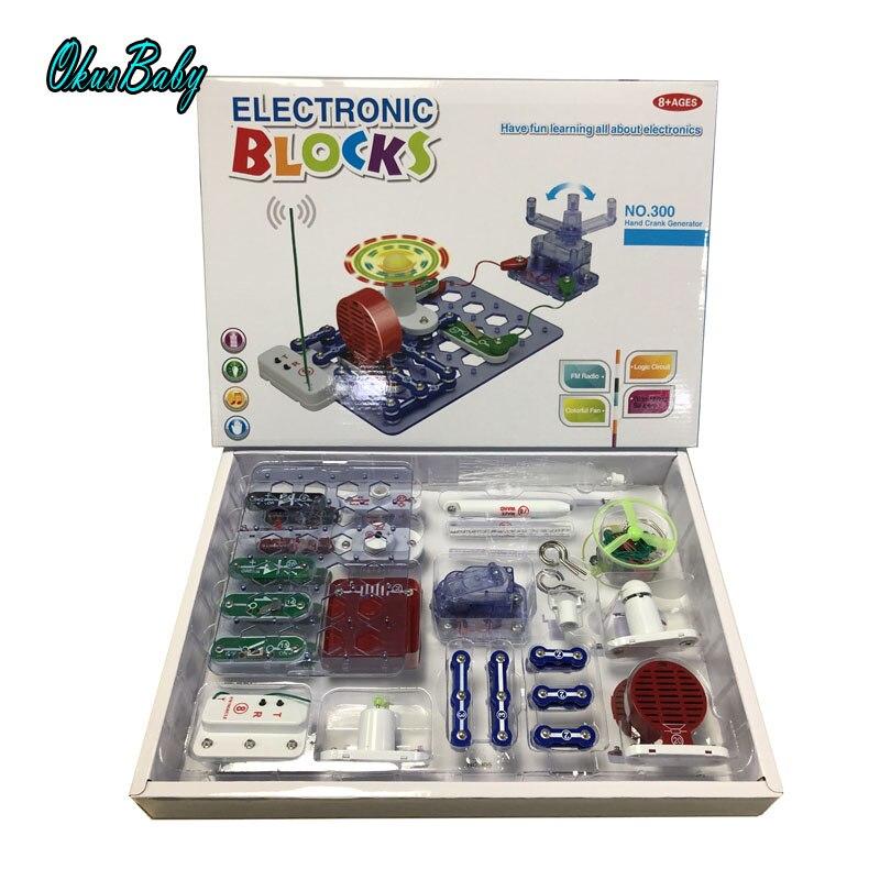 2019 Blocos de Construção Kit Bloco Eletrônico Circuito Integrado de Aprendizagem de Ciências Da Educação Física Brinquedo Criativo Brinquedos de Desenvolvimento