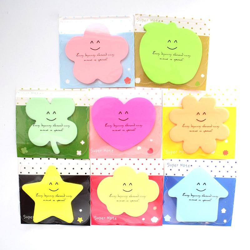 (8 Pieces/Lot) Stationery Shop Kawaii Planner Scrapbook Paper Candy Color Papeleria Postit Supplies Memo Pads 2017