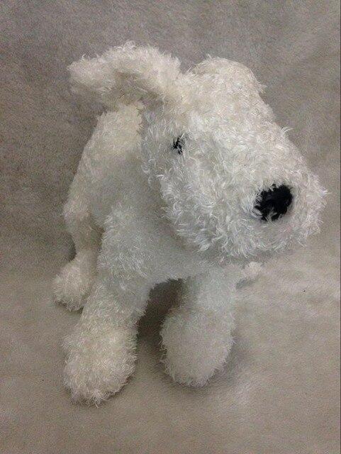 Снежная собака приключения тинтина плюшевые игрушки чучело подарок для детей новогодний подарок 25 см