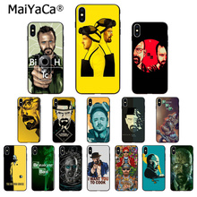 MaiYaCa Breaking Bad Chemistry Walter Newly Arrived Black Cell Phone Case for Apple iPhone 8 7 6 6S Plus X XS MAX 5 5S SE XR