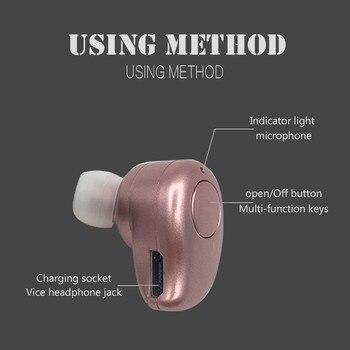 9e5e9c0581f Auriculares Bluetooth manos libres Audifonos Bluetooth V4.1 auriculares  Mini auriculares inalámbricos con micrófono para