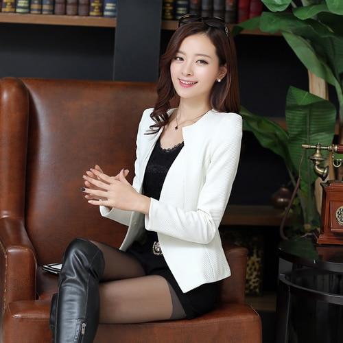 New J61269 Candy Color Blazers Women Business Suit Blazer Jacket Women Blazer Mujer Plus Size Korean Women