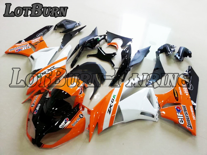 Motorcycle Fairing Kit Fit For Kawasaki ZX6R 636 ZX 6R 2009 2012 09 12 Fairings kit High Quality ABS Plastic Injection