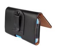 Man Outdoor Vertical Horizontal Belt Clip Cell Phone PU Case Pouch Bags For Samsung Galaxy A7