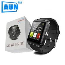 Aun 2016 smartwatch bluetooth reloj inteligente con podómetro altímetro 160 mah batería para samsung s4/note2/3 htc lg xiaomi android