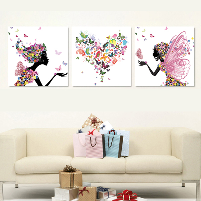 most advanced high definition printing simulation oil painting beautiful flower fairy of the sitting room decorate art 1168028