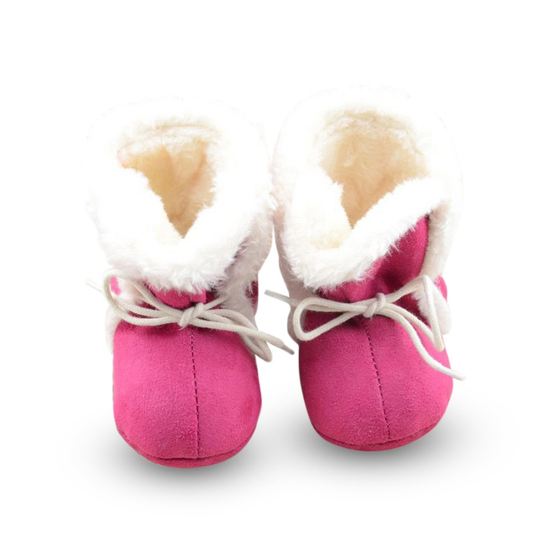Beauty Soft Fleece Girl Newborn Winter Boots Toddler Baby Kid Prewalker Cozy Crib Shoes