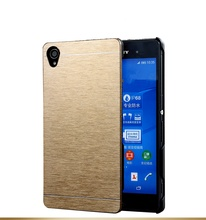 Brushed Metal Aluminium case For Sony Xperia Z1 Z3 Z4 Compact Z2 Z5 T3 T2 E4 M2 M5 M4 aqua C3 C4 C5 Hard back cover Armor