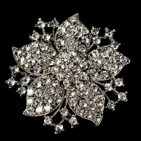 2,2 дюймов винтажная Серебряная черная Хрустальная Морская звезда, брошь для вечеринки, выпускного, ювелирные изделия, подарки - Окраска металла: 1