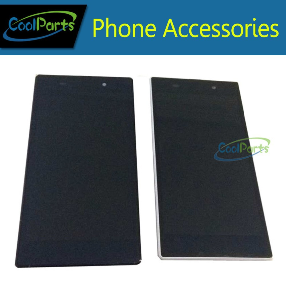 LCD Display Panel and Touch Screen Digitizer With Frame Assembly For Sony Xperia Z1 L39 L39H C6902 C6903 Free Shipping 1PC/Lot