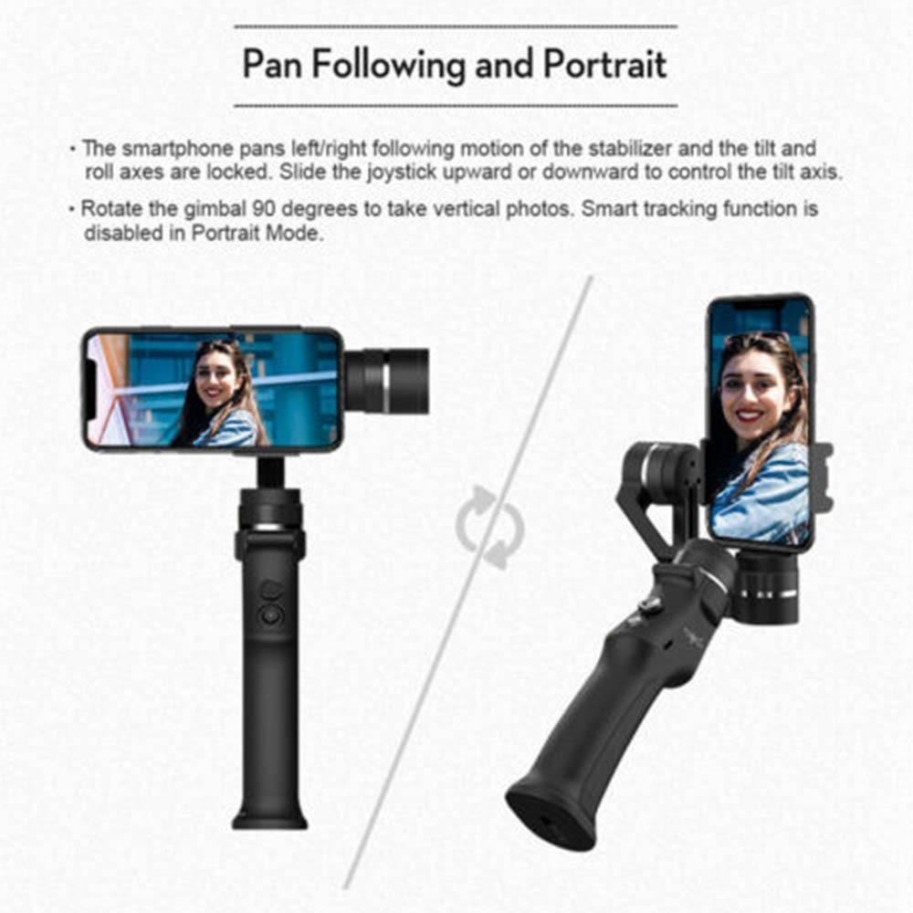 Cardan de stabilisateur cinématographique tenu dans la main de Roll3 Axis de 320 degrés avec la batterie pour le Smartphone - 4