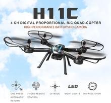 Дроны с Камера HD Пульт дистанционного Управления Hexacopter Профессиональный Дрон jjrc H11c RC Quadcopter летающие вертолет игрушка