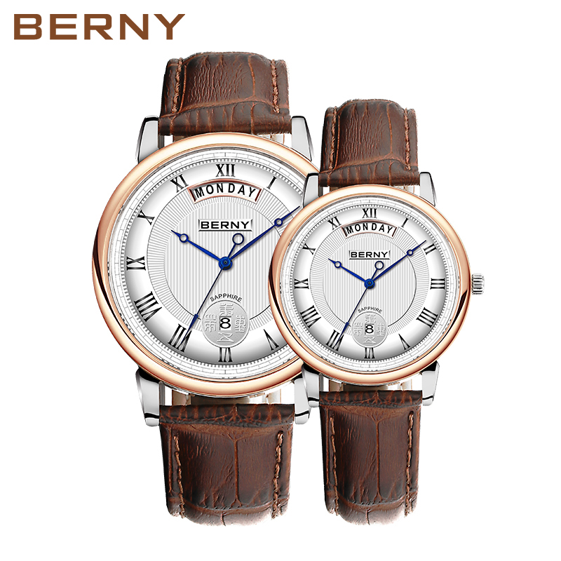 Berny Кварцевые часы Lover Fashion Top Luxury Brand Relogio Saat Montre Horloge Masculino Erkek Hombre Пара часов