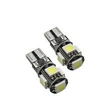 10X T10 W5W 5SMD CANBUS 5050 SMD 194 Erro LED Livre Luz Do Carro Auto Lâmpada Branco/Azul/Amarelo /Cor vermelha PODE ÔNIBUS Lâmpada Automotiva