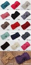 New big bow crochet knitted headband teens girls headband women fashion hair accessories Free shipping