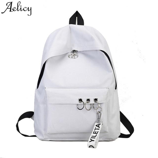 b7381ee994 Aelglacial 2018 mode femmes n Ring épaule Bookbags sacoche voyage sac à dos  pour adolescentes chaud
