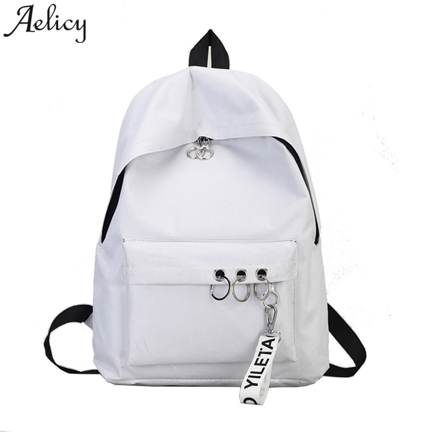 Aelicy Fashion Women's N Ring Shoulder Bookbags Satchel Travel Backpack For Teenage Girls Hot New School Shoulder Bag